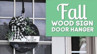 Fall Wood Sign Door Hanger
