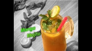 मैंगो मोजिटो-Mango Mojito-Summer Mocktail-Crazy For Easy