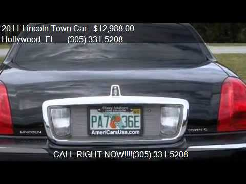 2011 lincoln town car signature l fleet for sale in hollywoo youtube. Black Bedroom Furniture Sets. Home Design Ideas