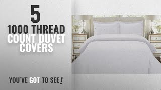 Top 10 1000 Thread Count Duvet Covers [2018]: Hotel Luxury 3pc Duvet Cover Set-1500 Thread Count