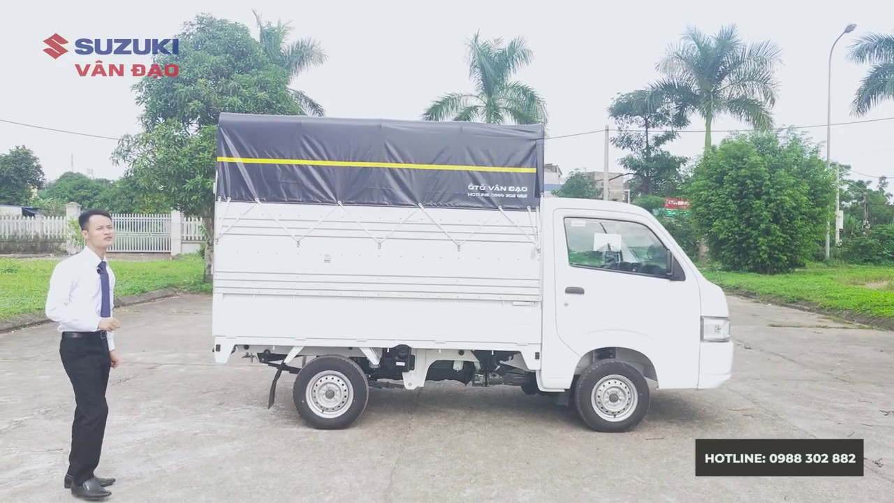 Suzuki Super Carry Pro 2020 – Xe Suzuki 9 tạ thùng mui bạt – Đánh giá chi tiết – LH 0919286938