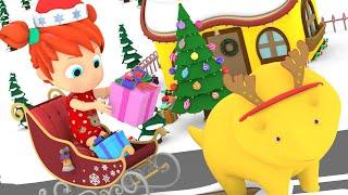 Учим цвета и цифры Рождество Динозаврик Дино и дети