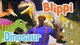 Blippi | Blippi Visits a Dinosaur Exhibition + MORE ! | Song for Kids | Educational Videos for Kids