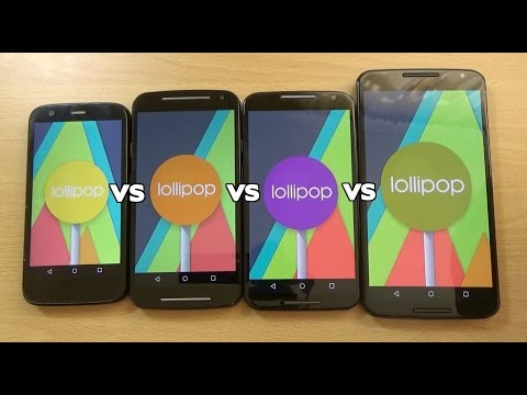 Nexus 6 VS Moto X 2014 VS Moto G 2015 Official Lollipop - Speed Test!