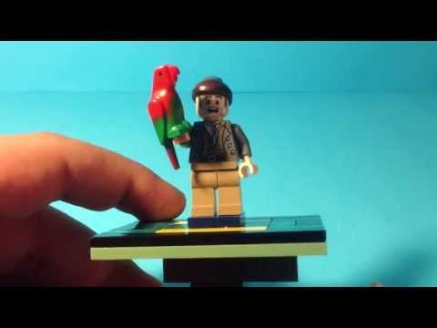 Lego pirates of the caribbean Custom cotton and his parrot minifigure review - YouTube