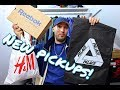 CRAZY CLOTHING & SNEAKER HAUL! STUSSY, PALACE, CHAMPION, H&M, ADIDAS, REEBOK, HUF!