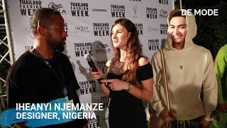 DESIGNER IHEANYI NJEMANZE AT THAILAND FASHION WEEK 2019 | EXCLUSIVE INTERVIEW WITH DE MODE