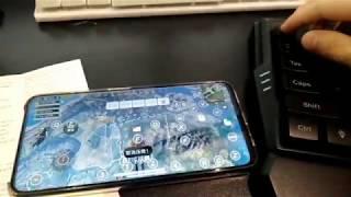 게이밍 한손키보드 배그 LED 스마트폰 블루투스연결