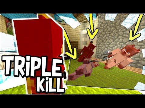MURDERER GETS A MAD TRIPLE KILL !! : Minecraft xbox Sherlock Murder Mystery