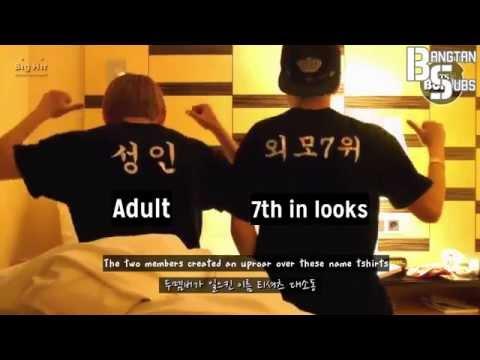 [ENG] 140717 [BANGTAN BOMB] Nickname Tshirts! 95 cam #1