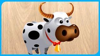 игры пазлы животные головоломки для детей на андроид
