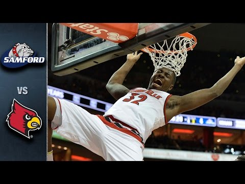 Louisville vs. Samford Basketball Highlights (2015-16)