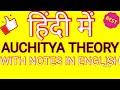 (HINDI) AUCHITYA THEORY # ENGLISH LITERATURE # LITERARY CRITICISM AND THEORY# MEG-5 #MA ENGLISH