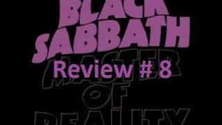 Review # 8 Black Sabbath - Master of Reality