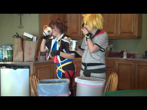 Sora And Roxas Attempt The Cinnamon Challege!