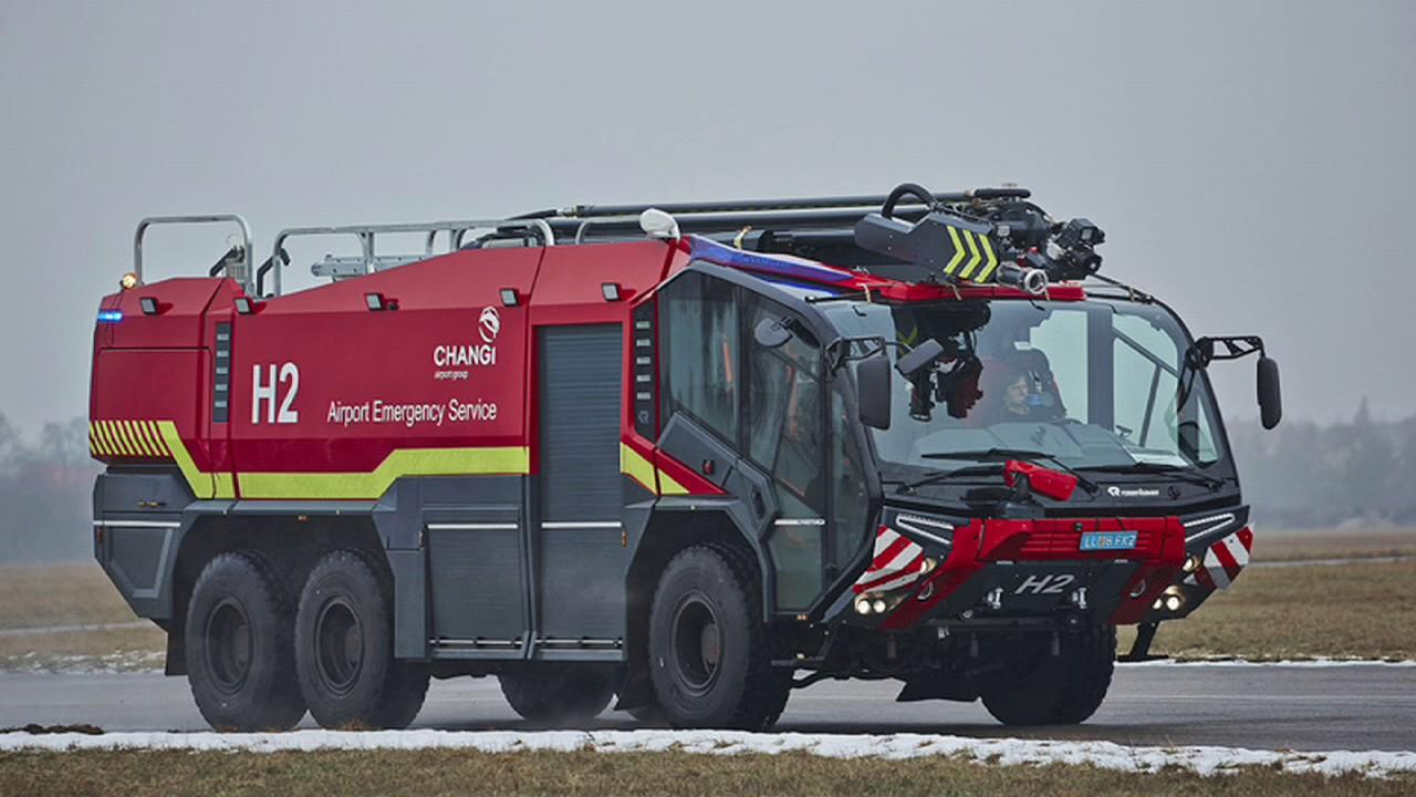 Herpa Wings 558853 Scenix Airport Munich FIRE ENGINE CAMION VIGILI DEL FUOCO NUOVO