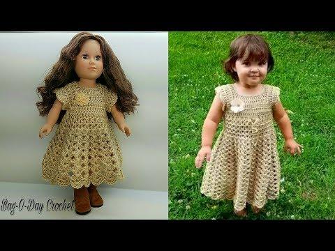 "How To Crochet - Doll Dress | Lil' Doll on the Prairie {18"" Doll Dress Pattern} | Tutorial #472"