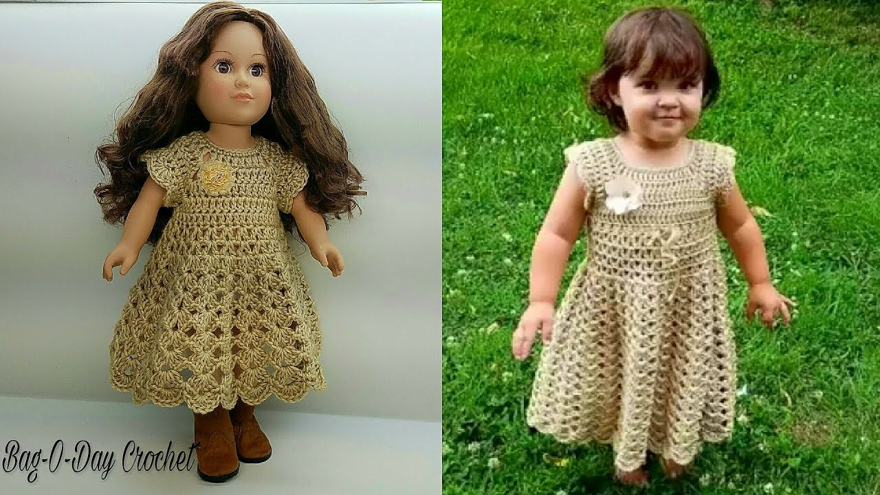 Crochet Doll Clothes & Shoes - Donna Raye & Her Doll Crochet Pattern | 720x1280