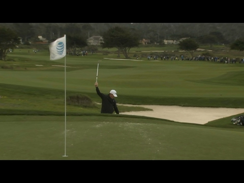 Phil Mickelson's bunker hole-out at AT&T Pebble Beach