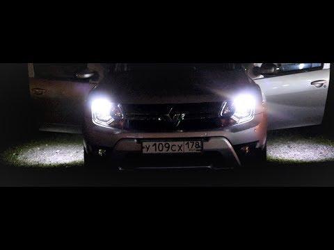 Светодиодная подсветка ног и зоны высадки на Renault Duster