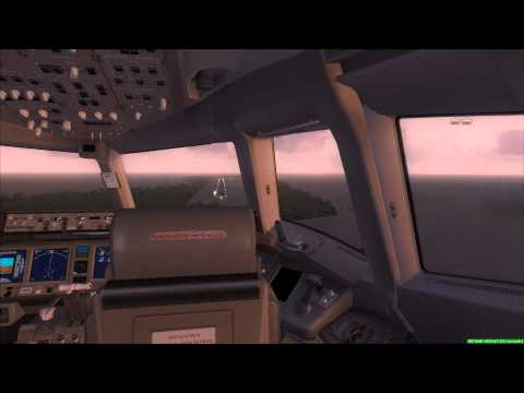 Malaysia Airlines 777-200ER [MH370] landing at Diego Garcia at 6.35am
