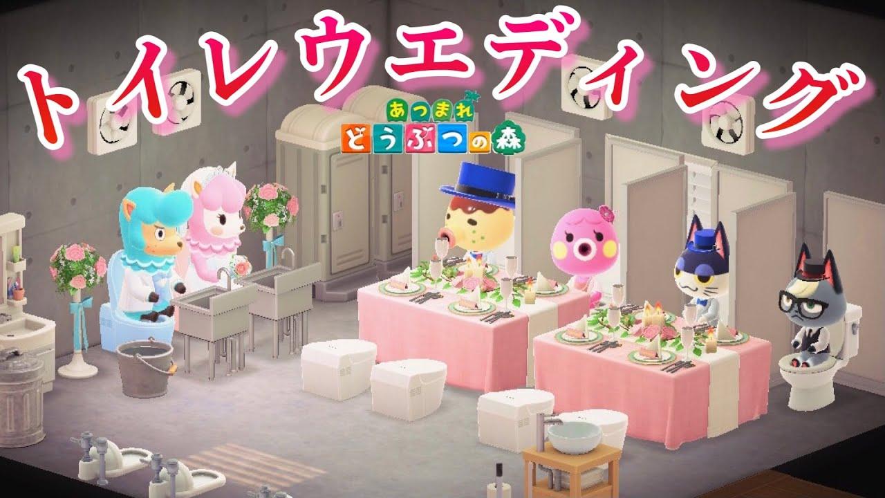 【あつ森】トイレ披露宴に行っといれ!【あつまれどうぶつの森】