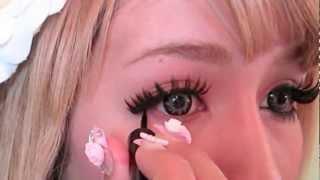 dramatic gyaru eye makeup tutorial ギャル