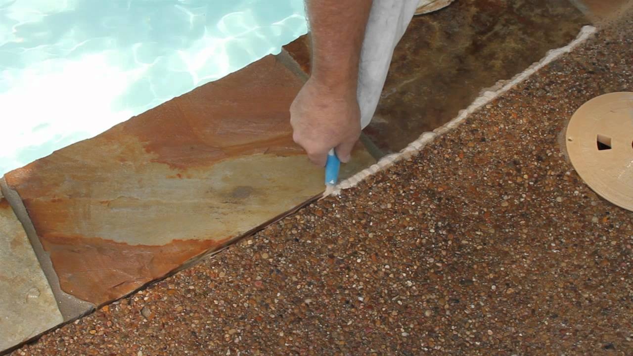 How To Install Ultimatepoolseal Pool Deck Seal Youtube