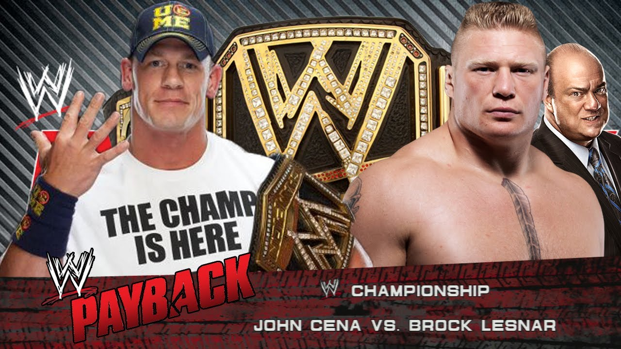 WWE Payback 2013 Johncena Vs Brock Lesnar Full Match HD ...