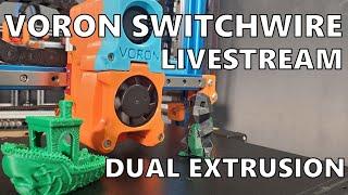 Voron Switchwire DUAL EXTRUSION SETUP STREAM