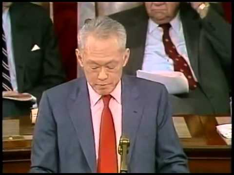 LKY addressing  a Joint Session of US Congress in Oct85