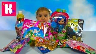 Кукла Голубичка из мультика Шарлотта Земляничка сюрпризы и игрушки распаковка doll and surprises