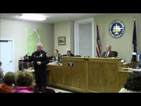 Town of Highlands Town Board Meeting March 27, 2017