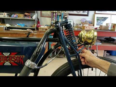 Fantasy 1916 Henderson antique motorcycle boardtrack racer