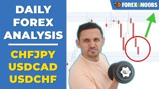 USDCAD & CHFJPY Ranges + EURUSD's Strong Trade (Price Action Analysis 2019-04-18)