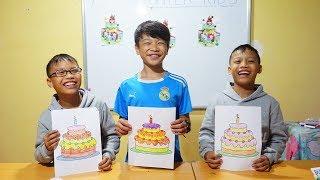 Hunter Kids Go To School Learn Colors birthday cake | Classroom Funny Nursery Rhymes