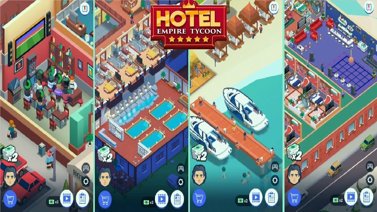 Hotel Empire Tycoon Max Level All Hotels Youtube