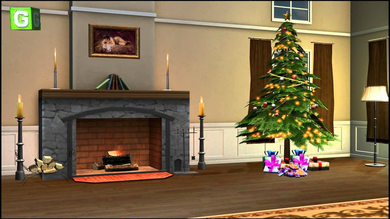 Christmas Room Video Background 01 Youtube