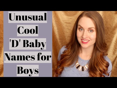 Cool Unusual D NAMES For BOYS | EverythingBabyNames