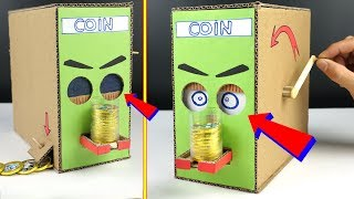 How to make Kids Coin Bank Box - DIY Chocolate Piggy bank [mr h2]