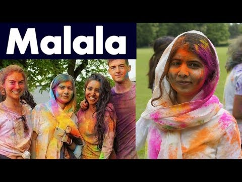 Malala Celebrating Holi at Oxford University and Muslims reactions