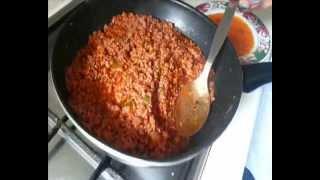 Como hacer una lasaña de carne picada paso a paso!!  ♥