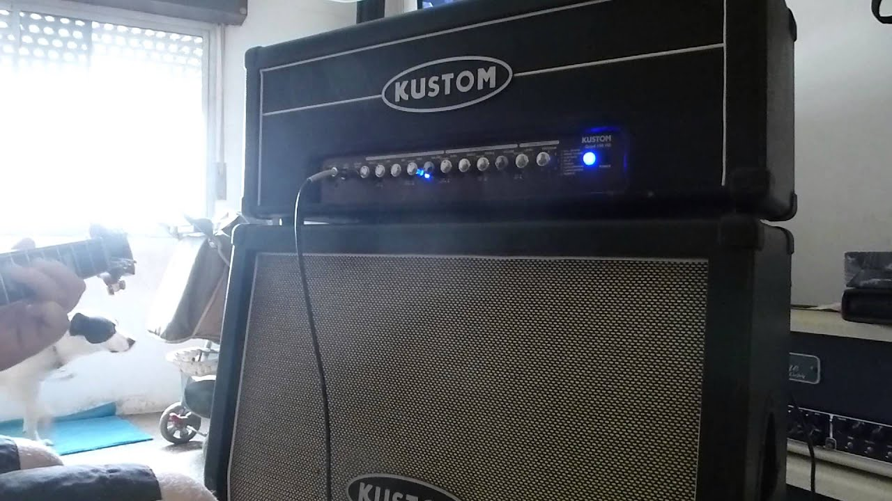 Kustom 1x12 Cabinet Prueba Kustom Quad Hd 4x12 Celestion Youtube