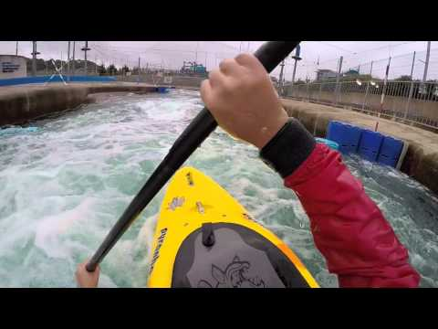 Cardiff International White Water Centre Kayaking 8 Cumecs CIWW GoPro HD