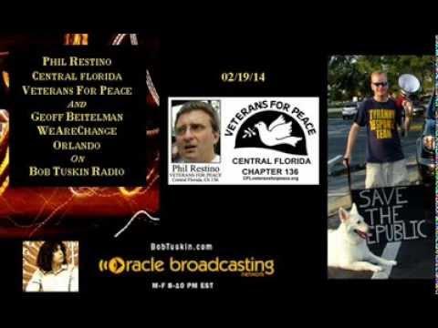 Veterans For Peace & WeAreChange-Orlando on Bob Tuskin Radio
