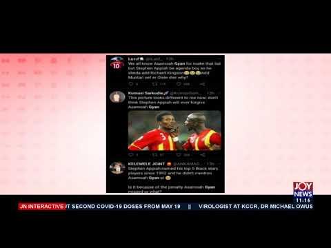 Best 5 Ghanaian Players Since 1992: Stephen Appiah excludes Asamoah Gyan - JoyNews (11-5-21)