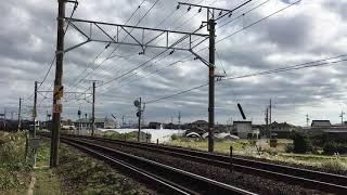 EF210形貨物列車 上中田踏切通過