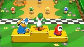 Mario Party 9 High Rollers - Kamek vs Shy Guy vs Wario vs Yoshi Gameplay | MARIOGAMINGHUB