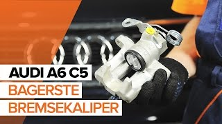 Montering af Bremsecaliper bag højre AUDI A6: videovejledning
