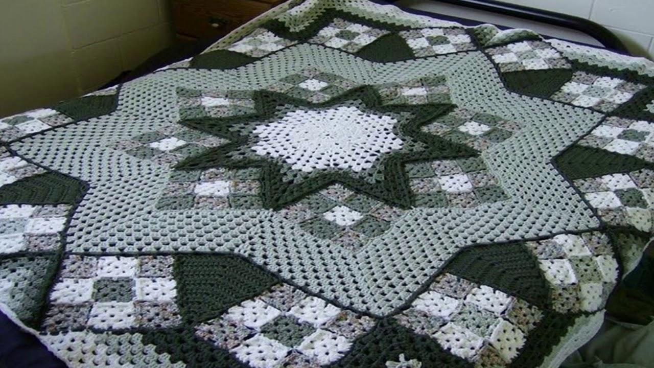 Colchas tejidas a crochet o ganchillo con granny youtube - Colchas tejidas a crochet ...